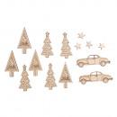 Wood Scattering Wintercar, FSC100%, 14 pieces