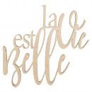Lettres en bois La vie est belle FSC100%, naturel,