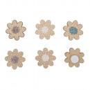 Drewniane posypki Mini kwiatki, 2, 1 cm ø, mieszan