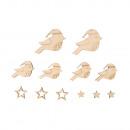 Houtdecoratie vogels & sterren, FSCMixCred, as
