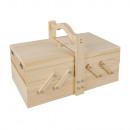 Boîte à couture en bois, crédit mixte FSC,