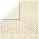 Scrapbooking Paper Gold Foil Dots, Ivory,