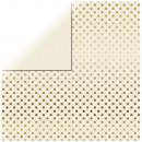 wholesale Figures & Sculptures: Scrapbooking Paper Gold Foil Dots, Ivory,