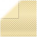 Scrapbooking paper gold foil dots, vanilla,