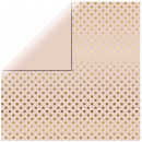 Scrapbooking paper Gold Foil Dots, soft pink,