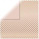Carta per scrapbooking Gold Foil Dots, rosa tenue,