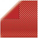 Scrapbooking Paper Gold Foil Dots, Classic Red,