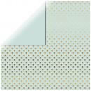 Scrapbooking Paper Gold Foil Dots, mint green,