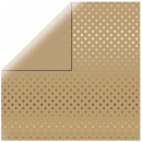 Scrapbooking Paper Gold Foil Dots, Kraft,
