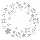 Ponssjabloon: negatieve bloemkrans, 1 stuk