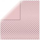 Scrapbooking paper Silver Foil Dots, soft pink,
