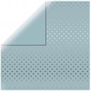 Scrapbooking paper Silver Foil Dots, delicate blue