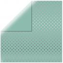 Scrapbooking paper Silver Foil Dots, mint green,