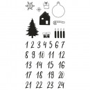 Clear stamps - advent calendar classic, 1 sheet