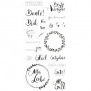 Clear Stamps - Many wishes, 1 sheet