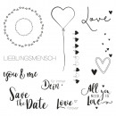 Clear Stamps - With love, 1 sheet