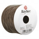 Paper cord with wire, dark brown, 25 m