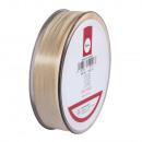 Taffeta ribbon with selvedge, cream, 50 m