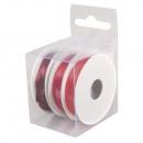Satin ribbons, red, 18 m