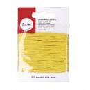 Cotton cord, waxed, yellow, 20 m
