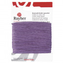 Cotton cord, waxed, lilac, 20 m