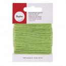 Cotton cord, waxed, may green, 20 m