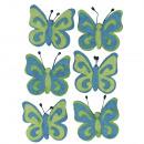 Farfalla in feltro, blu chiaro, 6 pezzi