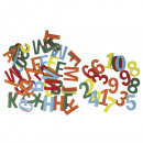 Felt letters and numbers, mixed, 230 pieces