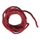 Wool cord with jute core, 5mm ø, red, 3 m