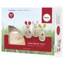 Bastelpackung: Leinen Mice Lotti, 3 pieces