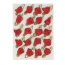 Roses sur l'arc, 10 mm, rouge, 20 pièces