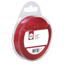 Organzalint, 15 mm, rood, 10 m