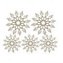 Sneeuwkristal verstrooiing, kasjmier goud, 5 stuks