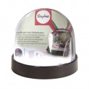 wholesale Snow Globes: Snowglobe with pen holder, black,