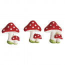 Polyresin lucky mushrooms, 10 pieces