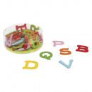Houten alfabet, kleurrijk, 55 stuks