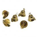 Metall Glöckchen, gold, 24 Stück