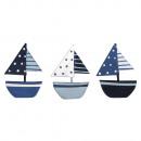 Barche sparse in metallo, 6 pezzi