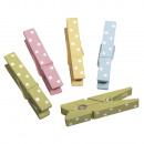Wooden brackets with dots, 12 pieces