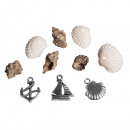 Seashell and Metal Scattering Maritime, 36 pieces