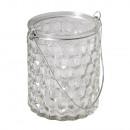 Glazen pot honingraat met handvat,