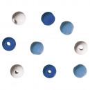 Houten kralen voor decoratie, 9 mm ø, 60 stuks