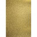 A4 Karton: Glitter, goud,