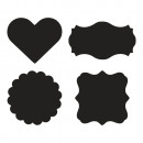 Set Tafelfolien-Sticker, 12 Stück
