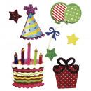 Deco Sticker: Compleanno, 7 pezzi