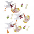 Deco Sticker: Baby Stork, 12 pezzi
