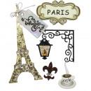 Deko-Sticker: Paris, 5 Stück