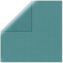 Papier Scrapbooking Double Dot, ciemny turkus,