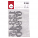 Stamping Template. Set: Big Numbers, 10 pieces