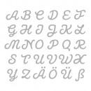 Stempelen Template. Set: Connected Alphabet, 30 st